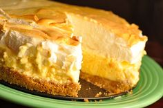 Lemon Icebox Pie. My grandmother always said that making this would make a man marry you...
