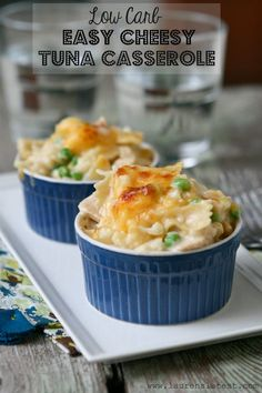 Low Carb Easy Cheesy Tuna Casserole