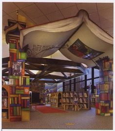 I Like the giant book as a canopy