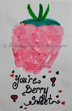 Handprint Strawberry Craft for Kids