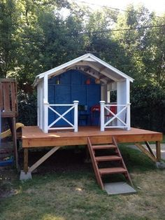 """""""Surf Shack"""" play house!  This is a perfect, kid paradise!"""
