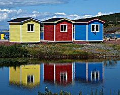 Beach shacks! goo.gl/33uo5 purpl hous, cavendish, beaches, houses, bright color, color hous, colors, colour hous, beach shack