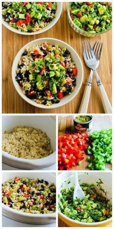 rice bowls, mexican bowl, bell pepper, black bean