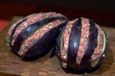 Dolmeh-ye bademjan {stuffed eggplant} #persianfood