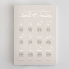 Day-Of Wedding Stationery Inspiration and Ideas: Seating Charts via Oh So Beautiful Paper (2)