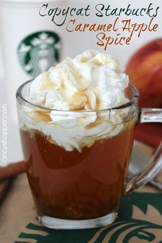 CopyCat Starbucks Caramel Apple Spice Recipe. Perfect to enjoy this fall. Saves me $$'s and satisfies my Starbucks addiction.