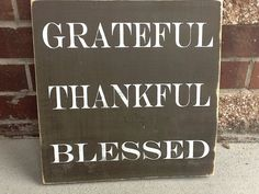 NEW primitive Grateful Thankful Blessed sign, thanksgiving sign, Thanksgiving decor on Etsy, $22.00