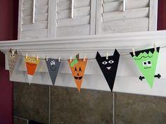 Banners| http://bannerandgarland94.blogspot.com halloween decorations, halloween kid crafts, halloween fun, halloween crafts, scrapbook paper, halloween kids, craft ideas, halloween diy, banner