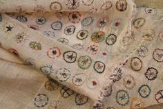 sophie digard - light linen embroidered scarf