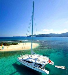 Sailing the BVI by catamaran
