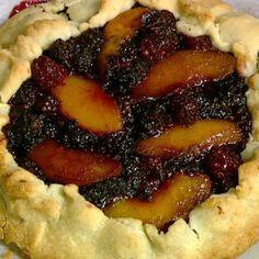Mario Batali Peach and Blackberry Crostata recipe. #thechew
