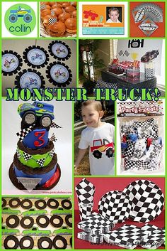 Fabulous Monster Truck inspiration board by one of my favorite party bloggers!
