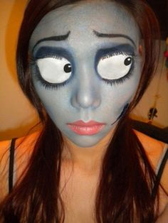 Nightmare Before Christmas makeup. This is amazing! How did she do the eyes!?