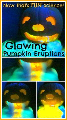 Glowing Erupting Pumpkins- now that's FUN Science!!