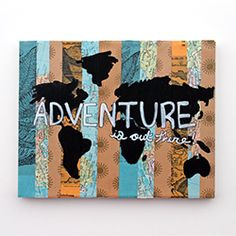 Create your own travel inspired art using this DIY.