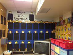 class setup: super star student wall