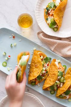 Spicy Curry Shrimp Tacos / 30 Delicious Things To Cook In June