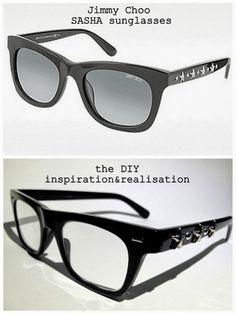 DIY Jimmy Choo star glasses