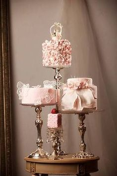 Mini Wedding Cakes www.tablescapesbydesign.com https://www.facebook.com/pages/Tablescapes-By-Design/129811416695