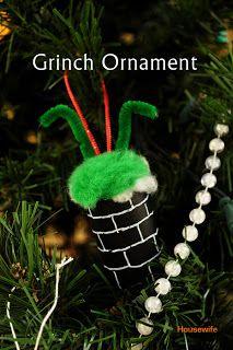Grinch Christmas Ornament #DIY #craft #tutorial #crafts #howto #Grinch #Whoville #Christmas #tree #ornament #ornaments