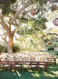 beautiful wedding setting