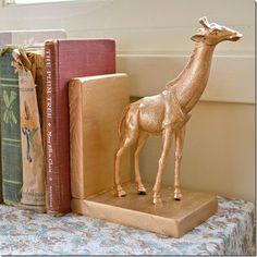 DIY tutorial: diy gilded animal bookends