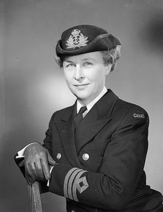 Commander Adelaide Sinclair, Director of the Women's Royal Canadian Naval Service, Ottawa, Ontario, July 1944. #WW2 #1940s #vintage #Canada