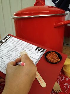 Backyard Chili Cook-off Party and Ballot Board DIY#Repin By:Pinterest++ for iPad#