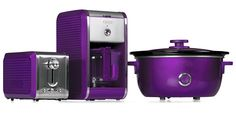 Bella Dots Collection: Toaster, Coffee Maker and Slow Cooker - Purple #BellaDots #BellaLife