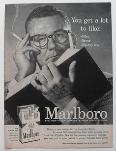 1950s Marlboro Men Black & White Photo Rugged Masculine Cigarettes Vintage Advertisement Smoking by Christian Montone, via Flickr