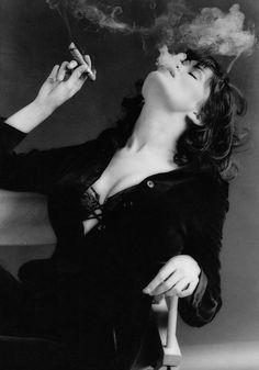 Cigar Smoking Woman