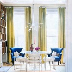 chair, living rooms, domino, color schemes, color combos, colors, blues, design style, curtain