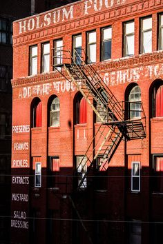 Fire Escape, West Bottoms Warehouse District, Holsum Foods Building, Kansas City, MO,  Fine Art Photography by Pitts Photography
