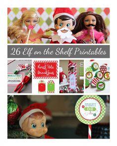 #Free Elf on the shelf #printables from @Crystal (www.crystalandcomp.com) #elfontheshelf