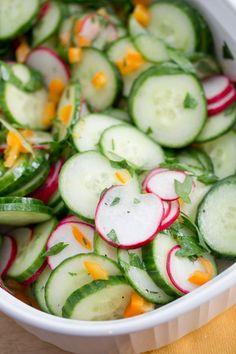 Cucumber & radishes