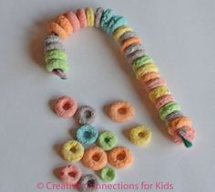 Cereal candy canes...