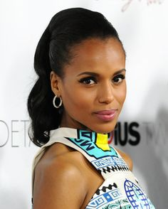 A high ponytail that doesn't scream cheerleader. See more of Kerry Washington's best hair moments here: