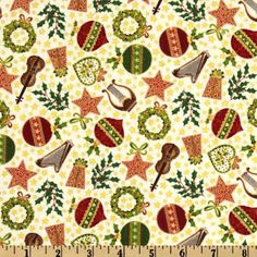 Christmas 2012 Classic Music Scatter Multi - Discount Designer Fabric - Fabric.com