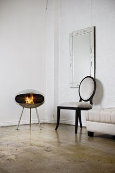 Aranżacje: Salon | Biokominki www.ambusto.pl | Cocoon Fires www.cocoonfires.com