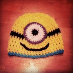 Despicable Me Minion Crochet hat on Etsy.com