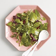 Herb Salad with Mustard Vinaigrette   MyRecipes.com