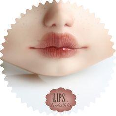 Lips..  art doll by KarolinFelix