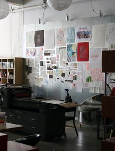 studio on fire on share some candy: ...with entire walls of inspiration...
