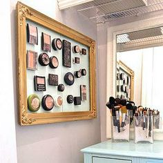 Makeup on a magnetic board
