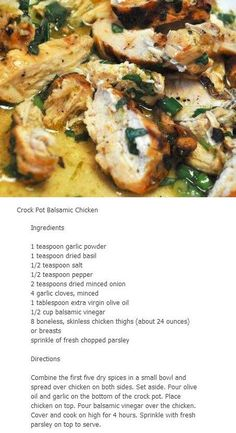 chicken breasts, crock pots, crock pot chicken, chicken thighs, balsam chicken