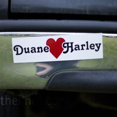 magnetic bumper sticker - this would be something to order NOW - from theknot.com