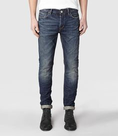 His worn jeans. A must. In my closet. :)