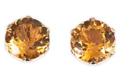 Citrine Stud Earrings on OneKingsLane.com