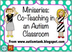 Autism Tank: Co-Teaching in an Autism Classroom-Reasons Why. Pinned by SOS Inc. Resources. Follow all our boards at pinterest.com/sostherapy/ for therapy resources.
