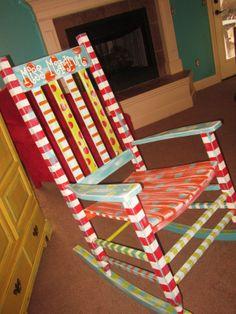 Handpainted teacher's chair